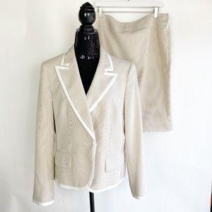 Evan Picone Women's Size 14 Suit Skirt Blazer Beig